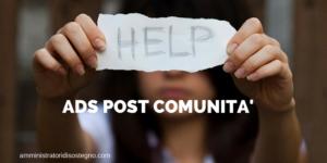 Ads post comunità